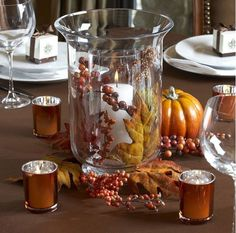 Jesienne dekoracje na stół