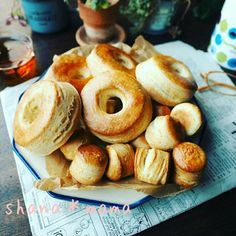 Saku Fuwa ~ feeling pretty good ♪ that shop hot biscuits ♪ Sweets Recipes, Cooking Recipes, Homemade Sweets, Sweets Cake, Happy Foods, Biscuit Recipe, Chocolate Desserts, Baking Ingredients, I Love Food