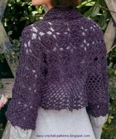 Elegant Crochet: Crochet Shrug for cool summer nights - free pattern