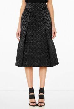 Jacquard Box Pleat High Waist Skirt by Studio Nicholson