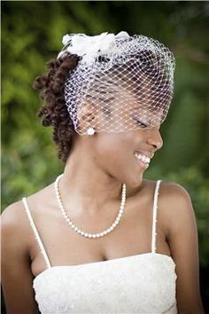 short wedding veil for dreads - Google Search