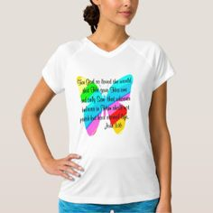 RAINBOW BUTTERFLY JOHN 3:16 DESIGN T-Shirt Up to 40% Off Shirts, Blankets, & More 15% Off Sitewide Use Code: ZSPRINGBREAK |for our beautiful selection of inspirational and spiritual Tees and Gifts.  http://www.zazzle.com/myheavenlyblessings/products #Spiritual #scripture #bibleverse #Christiangifts #Jesusgifts