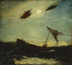 Albert Pinkham Ryder (1847-1917), Moonlight - 1887