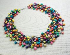 Handmade beaded jewelry by UkrainianBeadJewelry on Etsy