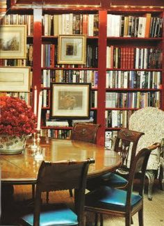 A Library Dining Room Is Nice Way To Have Both And Use The More Than You Would Otherwise Bookcases Comfy Chair Regular Set