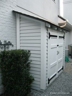 narrow storage shed | This 3′x7′ shed features a shed roof with exposed rafter tails ...