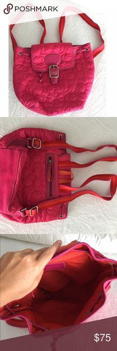 Coach Backpack Beautiful small pink Coach backpack which has never been used Coach Bags Backpacks