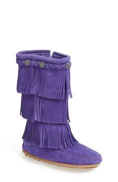 Minnetonka Fringe Boot (Walker, Toddler & Little Kid) available at #Nordstrom.         order Pink and Purple B-)
