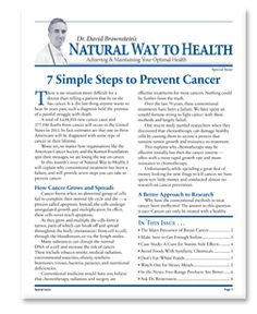 Good article on steps to prevent cancer and whats actually healthy versus what the medical industry/FDA would have you think.