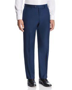 Michael Kors Textured Solid Slim Fit Suit Separate Dress Pants