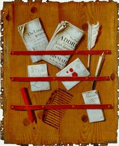 Giclee Print: A Trompe L'Oeil of Newspapers, Letters and Writing Implements on a Wooden Board by Edward Collier : Newspaper Letters, Popular Paintings, Tate Gallery, Art Terms, Great Works Of Art, Royal Academy Of Arts, Dutch Painters, Art Uk, Victoria And Albert Museum