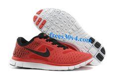Gym Red Black Pure Platinum Nike Free 4.0 V2 Men's Running Shoes