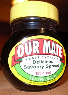 Our Mate – UK made Marmite branded for sale in Australia and New Zealand As Sanitarium has the exclusive right to the Marmite name in Australasia, Unilever International sells the British Marmite as Our Mate in Au. A Food, Food And Drink, New Zealand Food, Yeast Extract, Marmite, Cream Cheese Spreads, Beer Brewing, Different Recipes, Superfoods