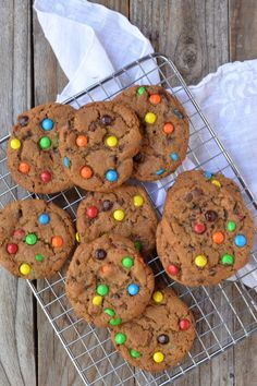 Brown Butter M & M Cookies from @mtnmamacooks