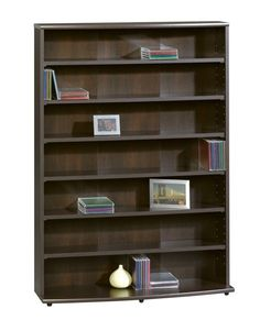 Media Storage Tower Shelves Cabinet Furniture Dvd Cd Rack Organizer Stand New…