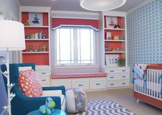 A Refreshing Aqua & Orange Boy's Nursery