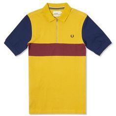 69a1c8ef1 Fred Perry Bradley Wiggins Championship Block Cycling Shirt Mustard