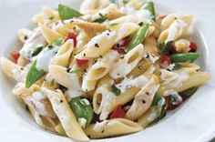Easy Philly Cream Cheese Recipes & Cooking Tips – Chicken Penne Bake with Snap Peas | Kraft Philly > delish! #whatsfordinner