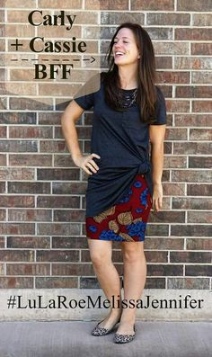 """LuLaRoe Carly and Cassie skirt! Find yours by clicking on the photo and clicking """" shop now """". Lula Outfits, Classy Outfits, Work Outfits, Beautiful Outfits, Lularoe Carly Dress, Lularoe Cassie, Work Fashion, Fashion Ideas, Fashion Outfits"""