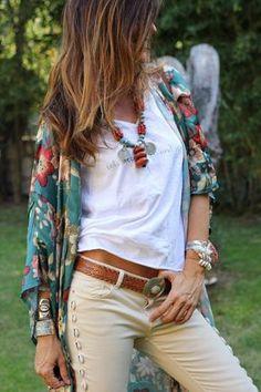 lovely flowers kimono - mytenida
