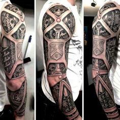 150 Most Creative Biomechanical Tattoo Designs cool Check more at https://tattoorevolution.com/biomechanical-tattoo-design/