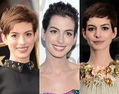 Indicada ao Oscar, Anne Hathaway mostra diferentes maneiras de usar cabelo curto - Beleza