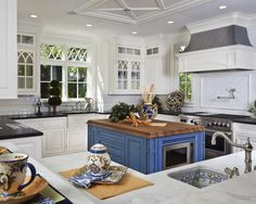 Traditional Kitchen Blue And White Kitchens Design, Pictures, Remodel, Decor and Ideas - page 2