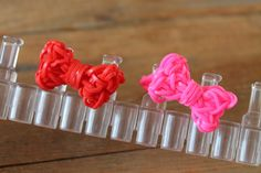Rainbow loom Bow Ring (Nederlands, not in English)
