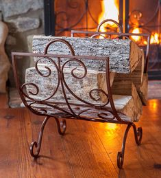 You'll love the simple elegance of our Crest Scrollwork Fireplace Log Holder. Designed to complement our Crest Fire Screen collection, this log rack looks gr…