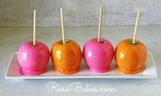 How to Make Any Color Candy Apples