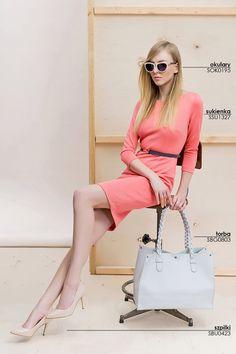 Dopasowana różowa sukienka na co dzień #topsecret