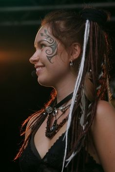 Jennifer Evans  from the paganfolk band Omnia