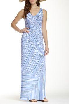 Terrace Striped Pieced Dress