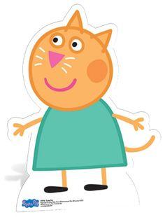 Peppa Pig carácter Lifesize Cartón recorte Pie Standup recortes Decoración