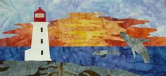 Quilting & Learning - What a Combo!: Canada 150 Quilting Events and Projects Ocean Quilt, Canada 150, Landscape Quilts, Block Of The Month, Contemporary Quilts, Paper Piecing Patterns, Sewing Material, Nova Scotia, Textile Art