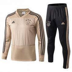 e4c922120ea Thailand Soccer Uniform 1819 · 2018-2019 Ajax Earth Yellow Thailand Soccer  Tracksuit-815
