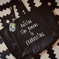 """""""If you ordered a #raisingtinyhumanstote yesterday or this morning it just shipped  we still have a nice stock of these and they are perfect for #mothersday and #tinyhuman adventures #raisingtinyhumansisexhausting™ thank you @babycakehaines for the share  sure hope you are enjoying the jumbo tote #weestructed"""" Photo taken by @weestructed on Instagram, pinned via the InstaPin iOS App! http://www.instapinapp.com (04/11/2015)"""