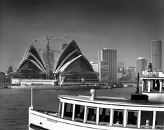 Sydney Opera House from Beulah St wharf, Kirribilli shows Evelyn Star ferry. Black White Photos, Black And White, Star Ferry, The Old Days, Sydney Harbour Bridge, South Wales, New Day, Old Photos, Opera House