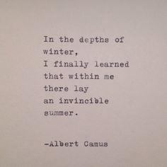 Albert Camus Handtyped Quote