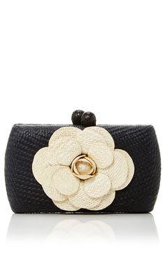 Camelia Bun Minaudière By Serpui For Preorder On Moda Operandi Straw Handbags Small
