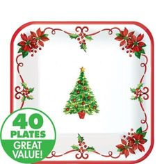 Up for sale are these traditional Christmas dessert plates. They are new and in original packaging.    Charming and timeless, these Traditional Christ