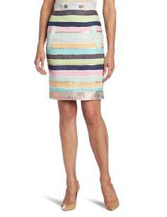 Tracy Reese Women's Slim Skirt, Multi, 0