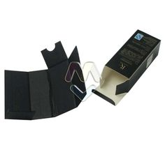 Custom Black Printed Paper Box For Packaging Eye Essence,Cosmetic Packaging Boxes With Black Corrugated Carton Tray