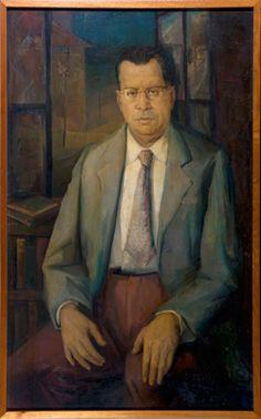 Self-Portrait (1956) by Lydio Bandeira de Mello (b. 1929), Brazilian works in the fresco tradition (bandeirademello)