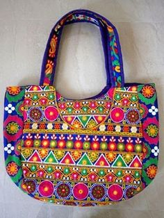 Beautiful Kutchi Embroidery Hand Bag For more collection n detail whatsapp on 08866233933 #handbag #traditional #kutchi #embroiderybag #gift #fashion #bags#indian #designerbag