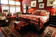 Interiors   Gary Riggs Home. Mountain Lodge, Lake house bedroom