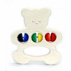 This beautifully made Hess Spielzeug wooden toy grasping bear is an ideal first toy for baby, with it's colourful beads and friendly bear design. Teething Relief, German Toys, Wooden Baby Toys, Bear Design, Organic Baby Clothes, Bear Toy, Baby Gifts, Babies, Gift Ideas