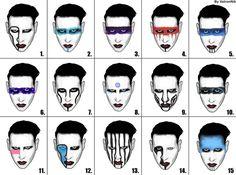 Various Manson looks Marilyn Manson Makeup, Brian Warner, Alternative Makeup, All About Music, The Rev, Johnny Depp, Burlesque, Makeup Looks, Tumblr