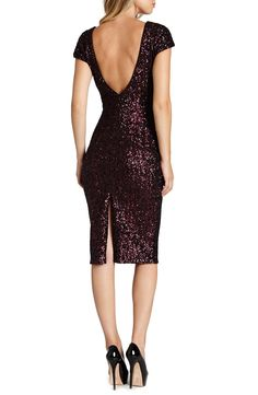 Dress the Population 'Marcella' Open Back Sequin Body-Con Dress | $248 Nordstrom
