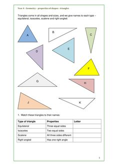 Maths Geometry Key Stage 2 Properties of Shapes Triangles and Quadrilaterals - bundle of activities.